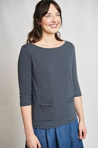 Layla Striped Biobaumwoll T-Shirt - bibico