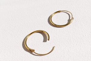 Kleine Creolen Ohrringe - 925er Sterling Silber - Gold - LUXAA