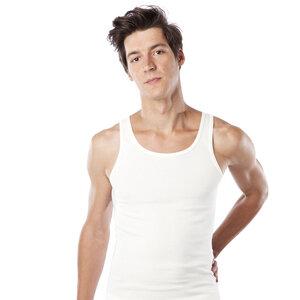 Hemd ohne Arm, Achselhemd, natural, Biobaumwolle 4361 - Living Crafts