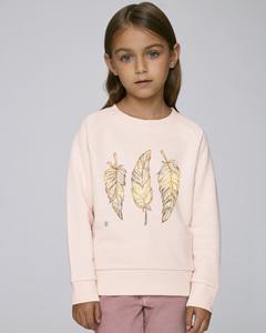Sweatshirt mit Motiv / Glücksfeder - Kultgut