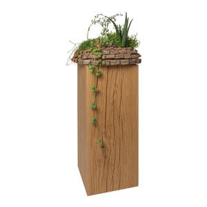 GreenHaus Dekosäule 17x17cm Eiche Massivholz Podest Blumensäule  - GreenHaus
