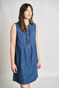 Margot Denim ärmelloses Kleid - bibico