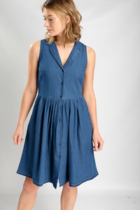 Lola Denim Tea Kleid - bibico