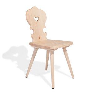 Verspielter Bauernstuhl aus Zirbenholz - Handarbeit aus Südtirol  - 4betterdays