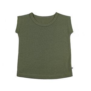 T-Shirt aus Jersey in oliv - Carlique