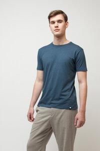 SATIVA, Bambus T-Shirt für Männer Blau - Green-Shirts