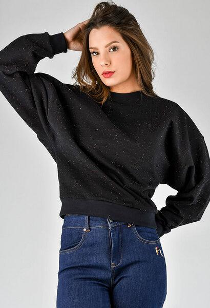 f2367a30196cf9 Fräulein Stachelbeere - Schwarzer Sweater mit weiten Ärmeln | Avocadostore