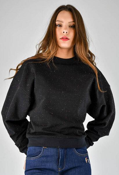 ba76fcfaa4e9c4 Fräulein Stachelbeere - Schwarzer Sweater mit weiten Ärmeln ...