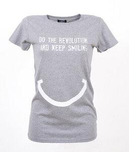 DO THE REVOLUTION AND KEEP SMILING - Frauen T-Shirt - Lena Schokolade