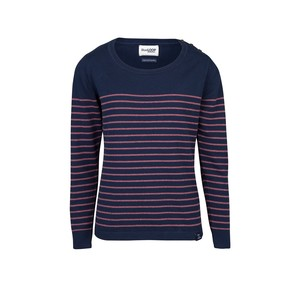 Perfect Breton Sweater - blau/rot - Blue LOOP Originals