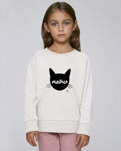 Sweatshirt mit Motiv / Meow - Kultgut