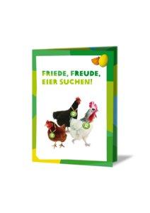 Gackernde Hühner (Osterkarte) - OxfamUnverpackt