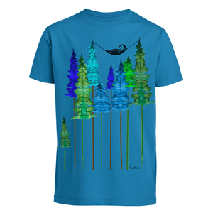 Wood Kinder T-Shirt blau Bio & Fair - FellHerz
