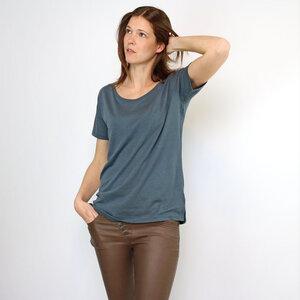 Oversize Shirt Anthrazit aus Tencel®-Mix - Gary Mash