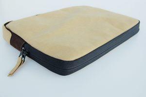Kraft Papier: Laptop Case 13 Zoll, MacBook Tasche, Hülle, Lederoptik - BY COPALA