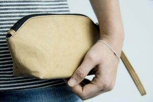 Kraft Papier : Federmappe/ Etui/ Tasche, nachhaltig. Lederoptik - BY COPALA