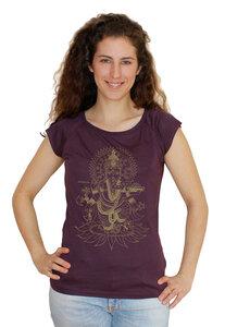 "Bio-Bambus-Viskose Shirt ""Ganesha"" - Peaces.bio - EarthPositive® - handbedruckt"