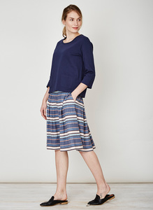 Abigail Stripe Hemp Skirt - Thought | Braintree