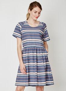 Abigail Stripe Hemp Dress - Thought | Braintree