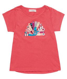 Mädchen T-Shirt pink mit Applikation Öko Sense Organics - sense-organics