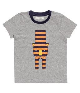 Jungen Shirt grau mit Applikation Öko Sense Organics - sense-organics