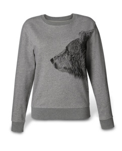 Damen Sweatshirt Bruder Bär - Kommabei