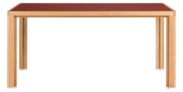 alvari tisch aus l rchen vollholz mit roter linoleum platte im alvari design avocadostore. Black Bedroom Furniture Sets. Home Design Ideas