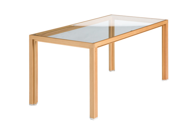 Alvari alvari esstisch aus l rchen vollholz mit for Design esstisch vollholz