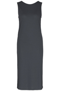 Kleid - Back layered mididress - black - Wunderwerk