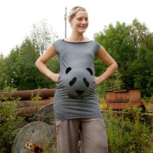 'Pandabärchen' T-dress - shop handgedruckt
