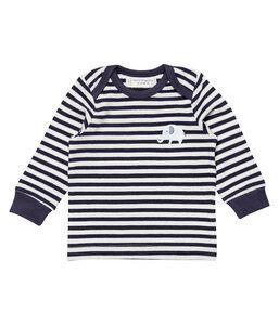 Baby LA Shirt blau geringelt mit Stickerei Bio Sense Organics - sense-organics