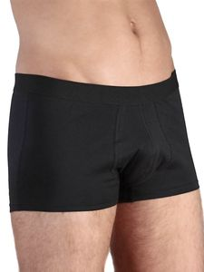 6 er Pack Trunk Shorts Bio-Baumwolle Unterhose Pants Retro rot schwarz - Albero