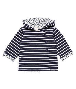Baby Jacke mit Kapuze dunkelblau weiß Bio Sense Organics - sense-organics