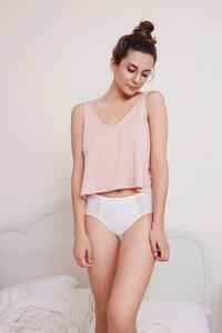 Slip - Light Pink Floral Modal Jaquard - Meemoza