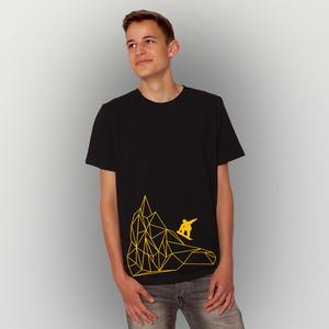 'Origamipiste' Männer T-Shirt FAIRWEAR ORGANIC - shop handgedruckt
