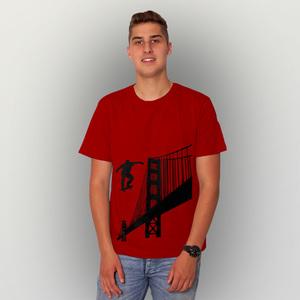 'Golden-Skate-Bridge' Männer T-Shirt FAIRWEAR ORGANIC - shop handgedruckt