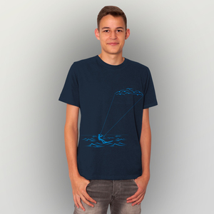'Kitesurfing' Männer T-Shirt FAIRWEAR ORGANIC - shop handgedruckt