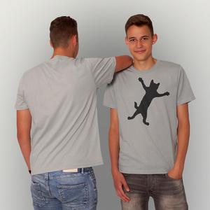 'Klammerkatze' Männer T-Shirt FAIR WEAR ORGANIC - shop handgedruckt
