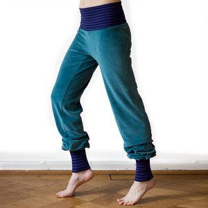Yoga und Wohlfühlhose für Damen seagreen/navy-lila - Cmig
