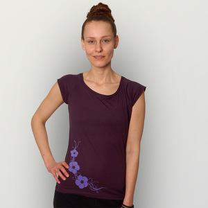 'Hibisken' Bamboo Jersey T-Shirt  - shop handgedruckt