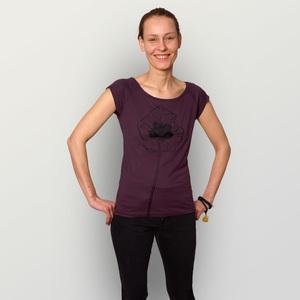 'Mohnblume' Bamboo Jersey T-Shirt  - shop handgedruckt
