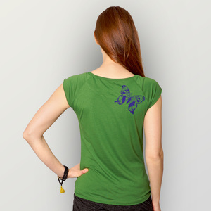 """Tagpfauenauge01"" Bamboo Frauen T-Shirt  - HANDGEDRUCKT"