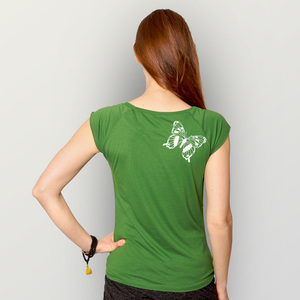 'Tagpfauenauge01' Bamboo Jersey T-Shirt  - shop handgedruckt