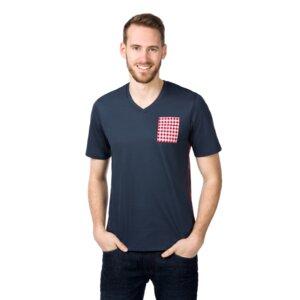 T-Shirt V-Ausschnitt mit Tasche - ben|weide