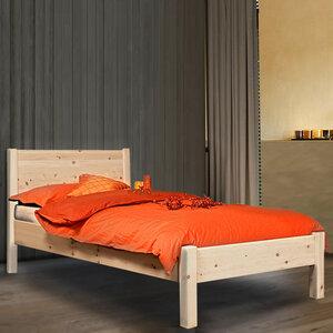 Klassisches Einzelbett 'Dream Base' - aus Astfichte mit Rückenlehne - 4betterdays