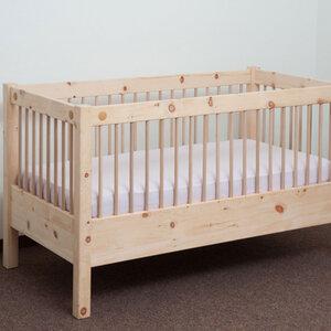 Zirbenbett - Das 'mitwachsende' Gitterbett samt Lattenrost 70x140 cm - 4betterdays