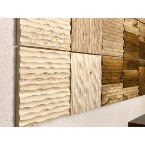 Edle Wandverkleidung aus Massivholz 33x33 cm - Echte Handarbeit - 4betterdays