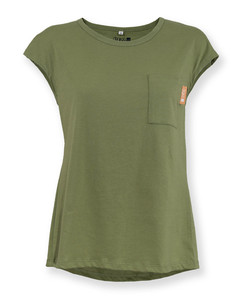 Damen T-Shirt Brusttasche | Oliva | olive  - Degree Clothing