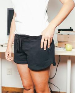 Damen Sommerhose Sweatshorts   Shorter   schwarz - Degree Clothing
