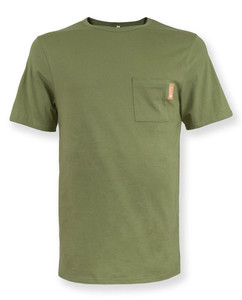 Herren T-Shirt Brusttasche | Brutus | olive grün - Degree Clothing